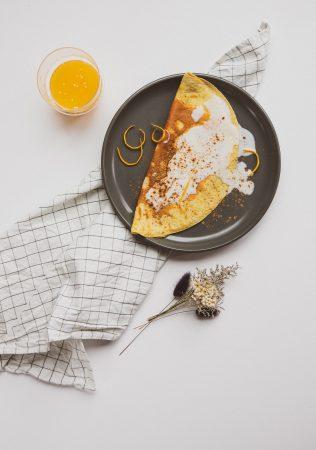 Omlet pomarańczowo-cynamonowy